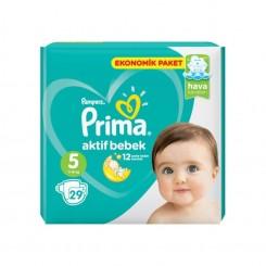 پمپرز - پوشک بچه پریما 11تا16 کیلوگرم (سایز 5) Pampers