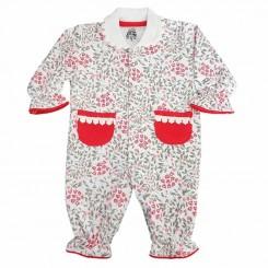 لباس نوزادی سرهمی دخترانه لیدولند طرح گل لاله Lidoland