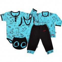خريد اينترنتي سيسموني نوزاد ست 5 تکه لباس پسرانه طرح برکه لیدولند Lidoland نوزادی، نی نی لازم فروشگاه اینترنتی سیسمونی