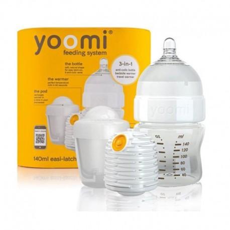 ست شیشه شیر طلقی140میل یومی گرم کننده و محافظ Yoomi - 1