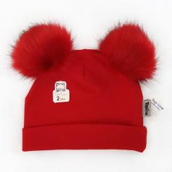 کلاه پوم پوم دخترانه و پسرانه تاپلاین رنگ قرمز Topline