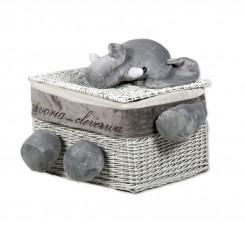 خريد اينترنتي سيسموني نوزاد سبد مکعبی درب دار عروسکی فیل کلوروا Cleverwa نوزادی، نی نی لازم فروشگاه اینترنتی سیسمونی