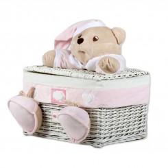 خريد اينترنتي سيسموني نوزاد سبد عروسکی سیسمونی مدل خرس کلوروا Cleverwa نوزادی، نی نی لازم فروشگاه اینترنتی سیسمونی