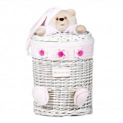خريد اينترنتي سيسموني نوزاد سبد درب دار لوازم اتاق نوزاد مدل خرس صورتی کلوروا Cleverwa نوزادی، نی نی لازم فروشگاه اینترنتی سیسمونی
