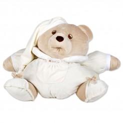 خريد اينترنتي سيسموني نوزاد اسباب بازی عروسک پولیشی خرس ناتان رنگ کرم کلوروا Cleverwa نوزادی، نی نی لازم فروشگاه اینترنتی سیسمونی