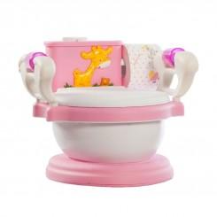 خريد اينترنتي سيسموني نوزاد توالت فرنگی آموزشی دستمال دار سامیاتویز صورتی نوزادی، نی نی لازم فروشگاه اینترنتی سیسمونی
