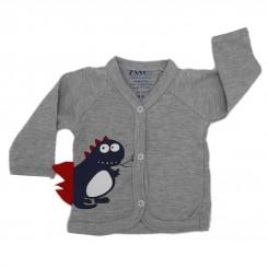 خريد اينترنتي سيسموني نوزاد لباس نوزادی جلو دکمه دار مدل دایناسور زانکو Zanco نوزادی، نی نی لازم فروشگاه اینترنتی سیسمونی