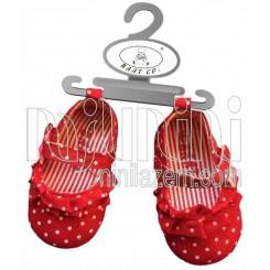 خريد اينترنتي سيسموني نوزاد کفش دخترانه سه رنگ بت Baat نوزادی، نی نی لازم فروشگاه اینترنتی سیسمونی