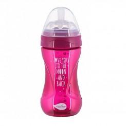 شیشه شیر ضدنفخ مشابه سینه مادر نوویتا سرخابی 250 میل Nuvita