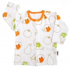 لباس بچگانه جلو دکمه دار تاپ لاین طرح قورباغه Topline