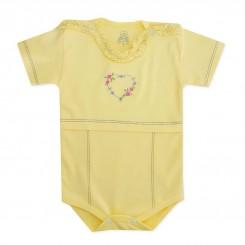 لباس نوزادی زیردکمه دار آستین کوتاه طرح لی لی لیدولند Lidoland
