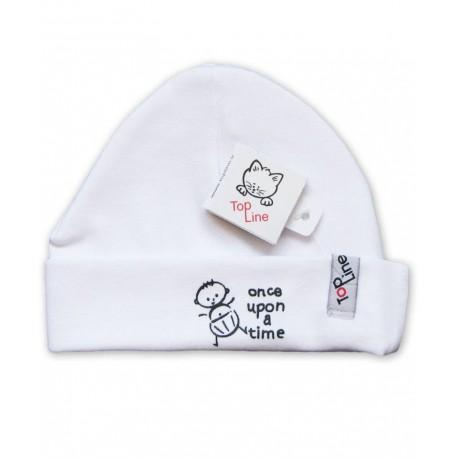 کلاه استرچ پسرک سفید تاپ لاین Top Line