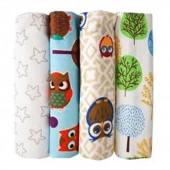 خشک کن 4 عددی نوزاد طرح جنگل Baby Blanket