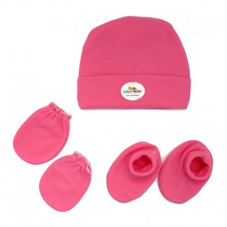 ست کلاه دستکش پاپوش رنگی لاکی بی بی Lucky baby