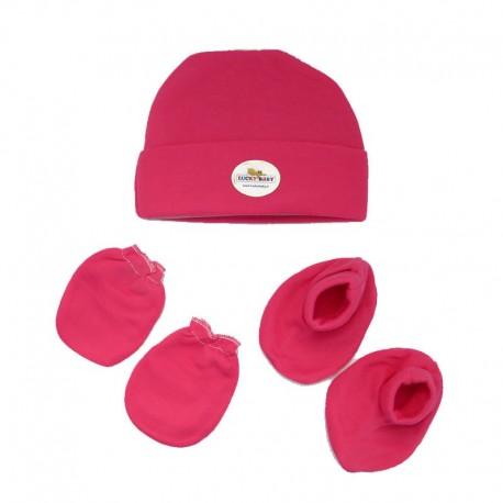 ست کلاه دستکش پاپوش لاکی بی بی Lucky baby - 1