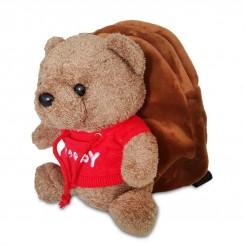 خريد اينترنتي سيسموني نوزاد کوله پشتی عروسکی بچگانه طرح خرس نوزادی، نی نی لازم فروشگاه اینترنتی سیسمونی