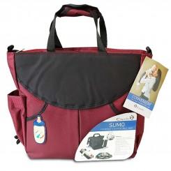 کیف و کوله پشتی لوازم مادر و نوزاد کاپلا مدل سومو زرشکی Capella
