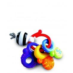 خريد اينترنتي سيسموني نوزاد دندانگیر سفت و نرم کلیدی نابی Nuby - 1 نوزادی، نی نی لازم فروشگاه اینترنتی سیسمونی