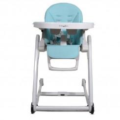 صندلی غذا خوری ننوئی بی بی4لایف رنگ چرم آبی Baby4life