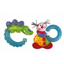 خريد اينترنتي سيسموني نوزاد دندانگیر ژله ای یخی دلقک نابی Nuby - 1 نوزادی، نی نی لازم فروشگاه اینترنتی سیسمونی