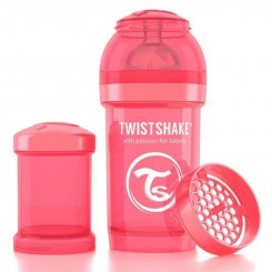 شیشه شیر ضدنفخ تویست شیک 180 میل قرمز صدفی Twistshake