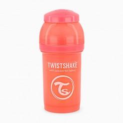 شیشه شیر تویست شیک 180 میل پاستل هلویی Twistshake