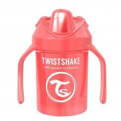 لیوان دسته دار آبمیوه خوری تویست شیک 230 میل قرمز صدفی Twistshake