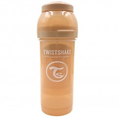 شیشه شیر نوزاد تویست شیک طلقی 260 میل بژ Twistshake