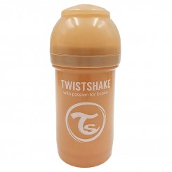 شیرخوری ضدنفخ تویست شیک 180 میل پاستل بژ Twistshake