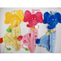 چارت اندازه گیری نوزاد فیل سه رنگ کنزا Kenza