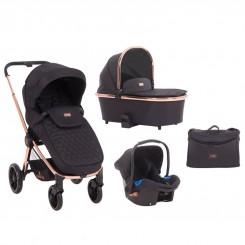 کالسکه نوزادی ست 4 تکه برند کیکابو Kikkaboo مدل Vicenza Premium
