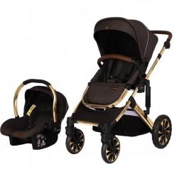 کالسکه و کریر نوزاد و کودک لورنزو ذغالی Lorenzo مدل Freddo