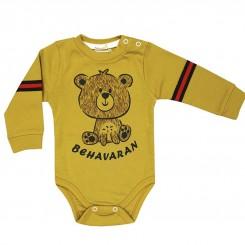 لباس زیردکمه دار آستین بلند نوزاد به آوران طرح گوچی Behavaran