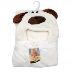 پتوی دورپیچ نوزادی کلاهدار طرح سگ کارترز Carters