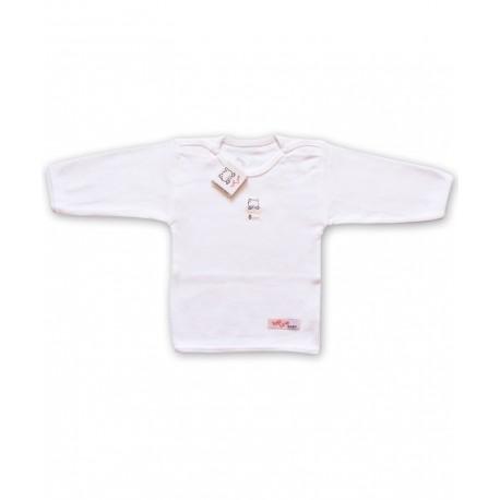 یقه گرد آستین بلند سفید ساده تاپ لاین Top Line - 1