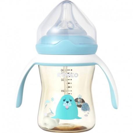 شیشه شیر نوزاد 180 میل دسته دار Rovco