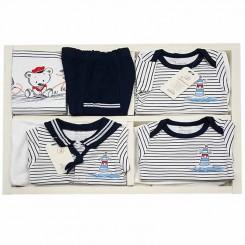 ست لباس نوزاد پسرانه 19 تکه دانالو طرح فانوس دریایی و خرس Danaloo