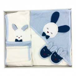 سرویس حوله 5 تکه پسرانه طرح خرگوش آبی Gayebebe
