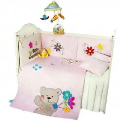 سرویس خواب 7 تکه نوزاد طرح صورتی Baby garden