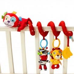 آویز تخت نوزاد مارپیچ جولی بی بی مدل میمون قرمز Jollybab
