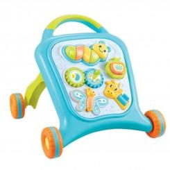 واکر کودک چند کاره موزیکال آبی Baby walker
