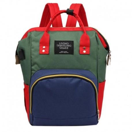 کیف لوازم و سبد خواب مسافرتی نوزاد آبی قرمز