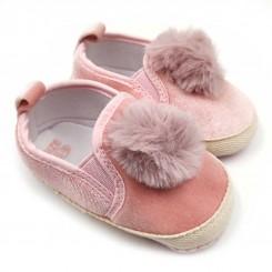 کفش دخترانه صورتی پوم دار Mrshose