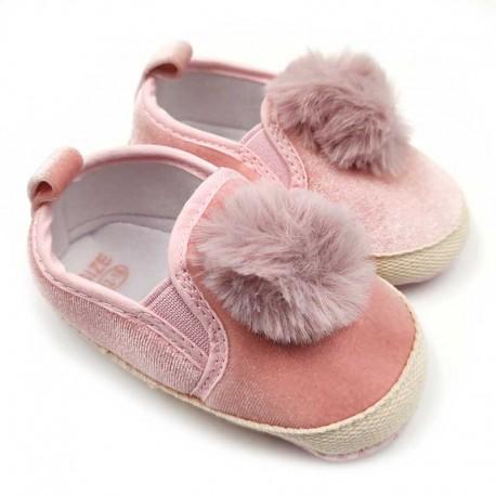 کفش دخترانه صورتی جلوتوپی Mrshose