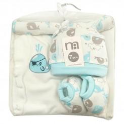 ست بیمارستانی نوزاد دختر و پسر مادرکر طرح وال آبی Mothercare