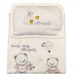 ست خواب 3 تکه نوزادی طرح خرس صورتی Babylike