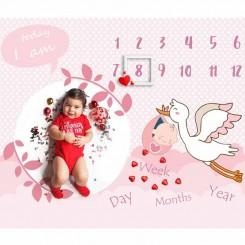 پارچه ماهگرد نوزاد و کودک الپی کیدز lpkids