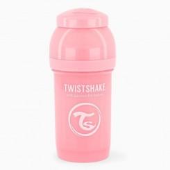شیشه شیر طلقی نوزاد تویست شیک طلقی 180 میل صورتی پاستل Twistshake