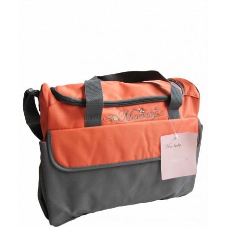 کیف لوازم کودک 12 ساعته نارنجی طوسی مک بی بی Mac Baby - 1