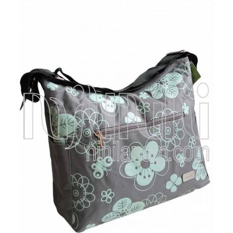 کیف لوازم کودک سبز و طوسی بایا Baya - 1